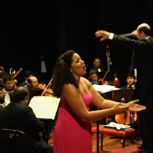 Natalia Dopwell with the Symphony Orchestra of Trujillo Peru