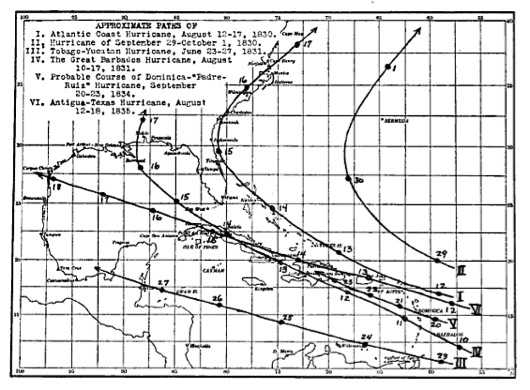 1830s hurricanes