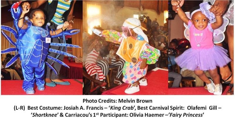 Best Costume, Best Carnival Spirit and 1st Carriacou Participant