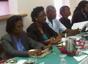 Grenada IP registrar Annette Henry and Head of Marketing at the Tourism Board Christine Noel among participants at the GI workshop