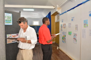 Judges for Poster Competition - Erik Johnson and Alleyne Gulston