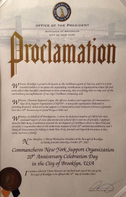 Commancheros President proclamation