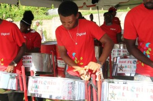 Digicel All Stars provided local music with the sound of steel pan