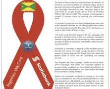 Scotiabank and the Ministry of Health partner to fight HIV/AIDS