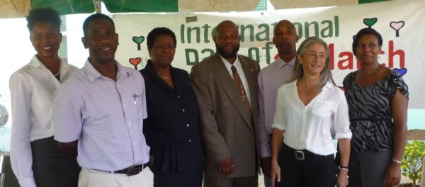 Hon Min Roland Bhola with Dove Conservation Team and Sandals Foundation Representative.