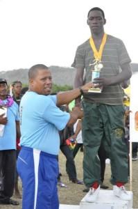 Senator Emmons presenting at Inter-Island Secondary School Sports 2014