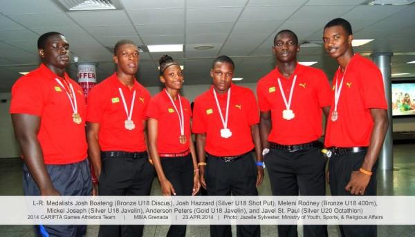 Team Grenada - CARIFTA medallists