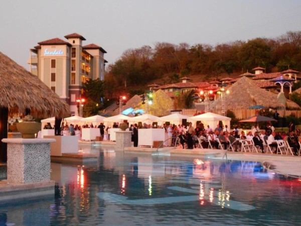Poolside at Sandals LaSource Opening Ceremony