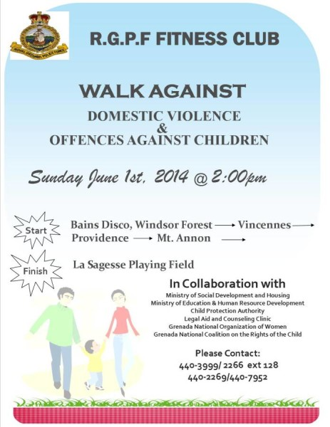RGPF Fitness Club Walk Against Domestic Violence & Offences Against Children