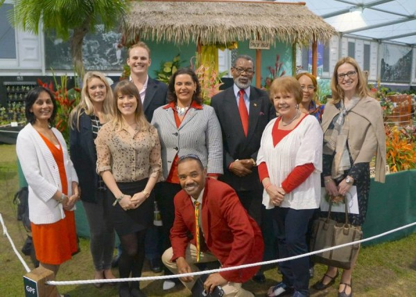 RHS Chelsea Flower Show Grenada sponsors with Minister, High Commissioner and Suzanne Gaywood. Photo by ComplexdWoman magazine