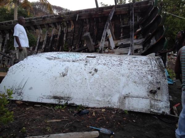 Debris retrieved off Windward. Photo: JNC Photographic