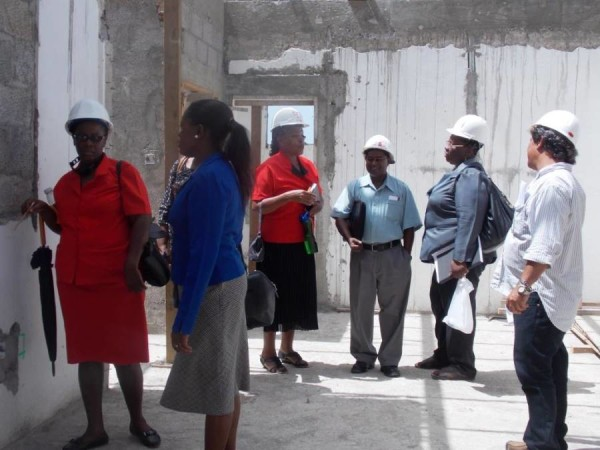 Delegation visiting Top Hill site, Carriacou