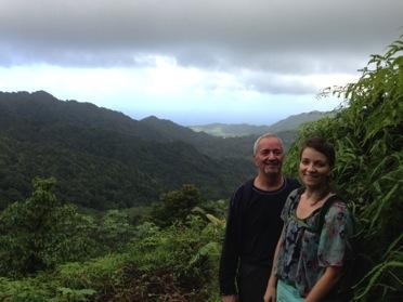 Peter Horsman and his daughter, Anaïs, in Grenada