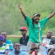Fan enjoying CPL at Grenada National Stadium (2)