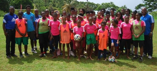 Participants and officials of the Girls Grassroots Festival