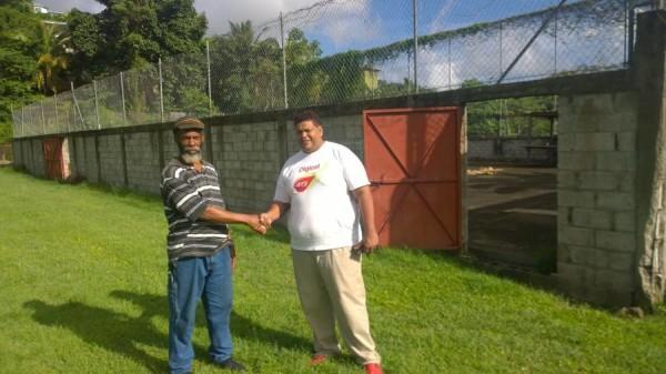 Marketing Manager Kirk Seetahal with Earnest Lett PRO Mon Jaloux Sports