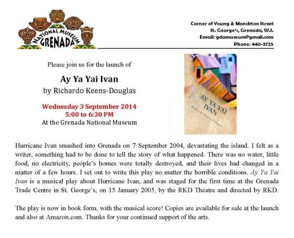 Ay Ay Yai Ivan Book Launch at the Grenada National Museum
