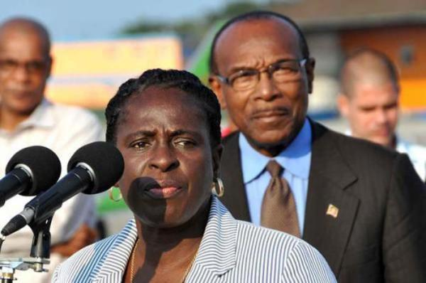 Dr Clarice Modeste and MOH Antigua-Barbuda Molwyn Joseph in Havana. Photo-AIN