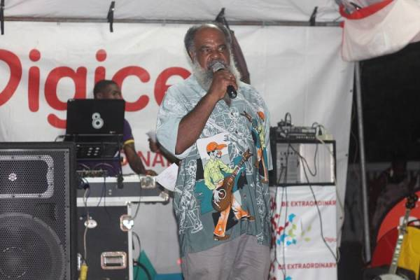 Randolph Fleary Chairman of the CPMCDC at the launch of Carriacou Carnival 2015