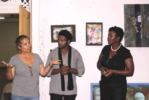 The artists - Suelin Low Chew Tung, Prensnelo and Andrea McLeod