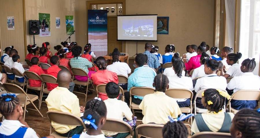 Students eagerly look on at the Cities of the Caribbean at the documentary screening hosted by the GTA