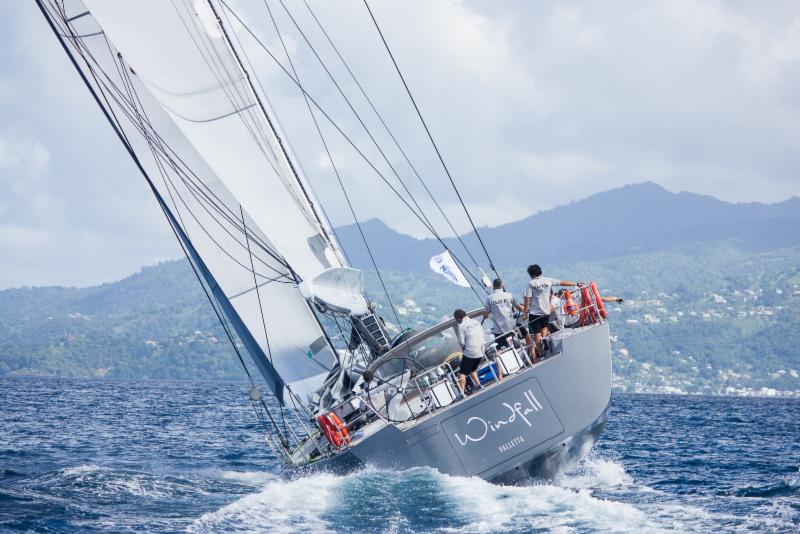 Windfall, Southern Wind 94 blasts into Grenada at the finish of the RORC Transatlantic Race  © RORC/Arthur Daniel & Orlando K Romain
