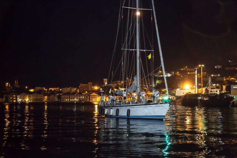 Yacana, Aref Lahham's Swan 68 completes the RORC Transatlantic Race and makes her way to the dock at Port Louis Marina, Grenada - RORC/Arthur Daniel & Orlando K Romain