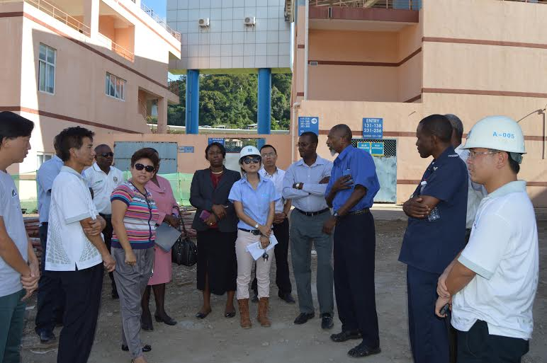Officials at stadium site visit
