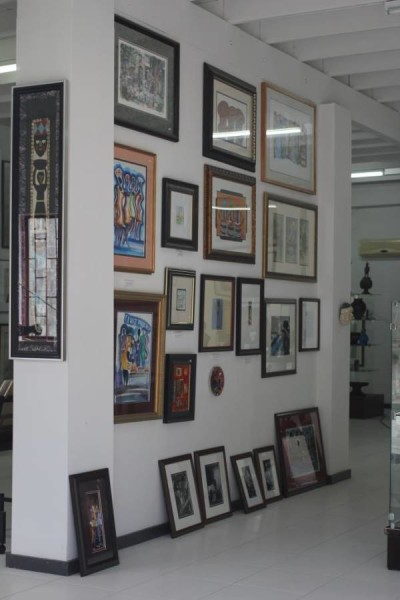 View of interior at Ebony Fine Art Gallery