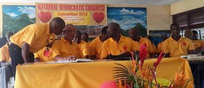 NDC New Executive until the next convention