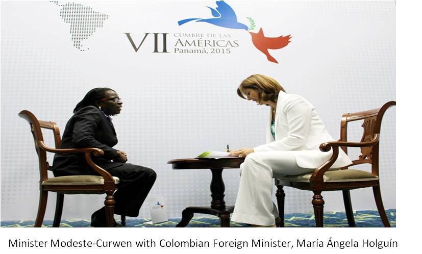 Minister and Colombian counterpart