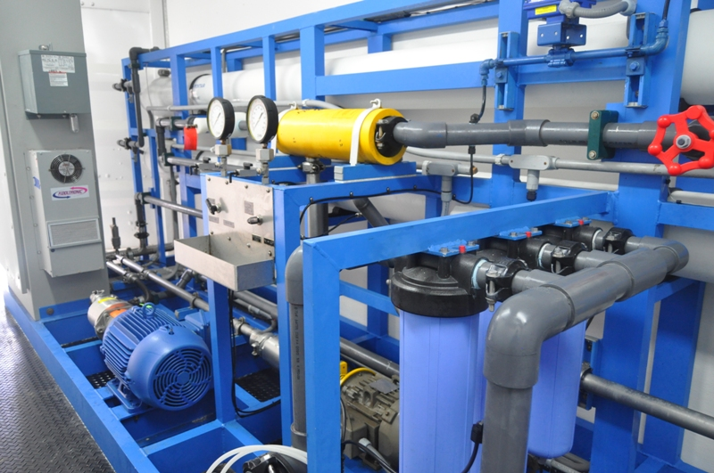 Part of the system set up inside of reverse osmosis  plant.