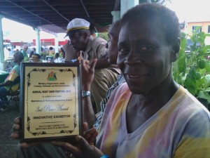 Ann Nero with her award from the Ministry of Agriculture