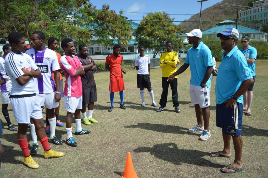 Jason Roberts and Andre Patterson Offer Coaching Advice to Trial Participants