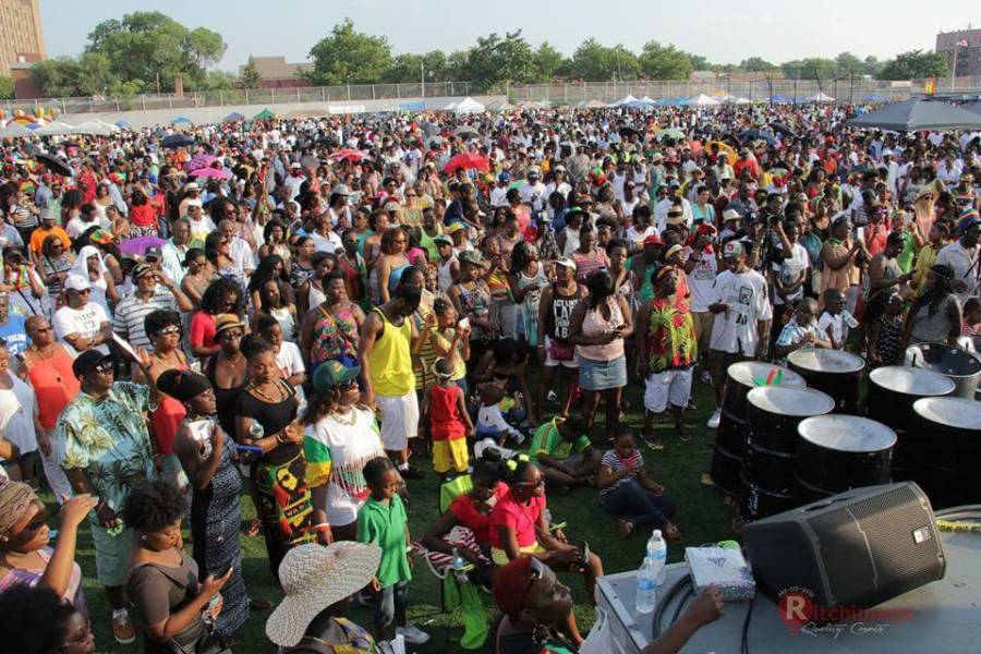 Cross section of the crowd at Grenada Day 2015