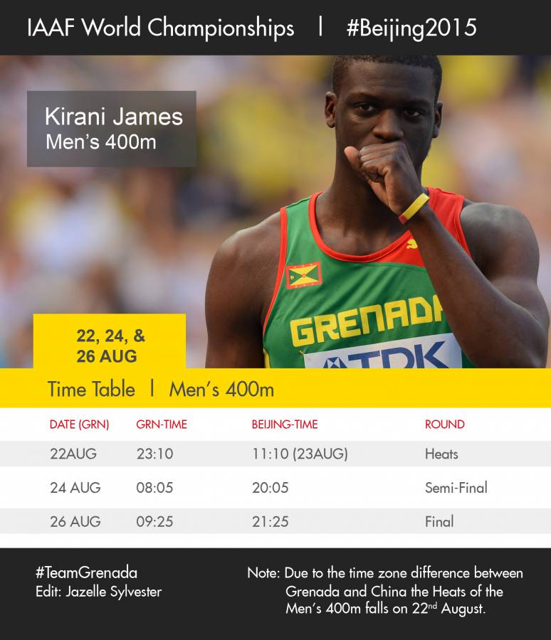 Kirani-Time-Table-World-Champs-Beijing-2015