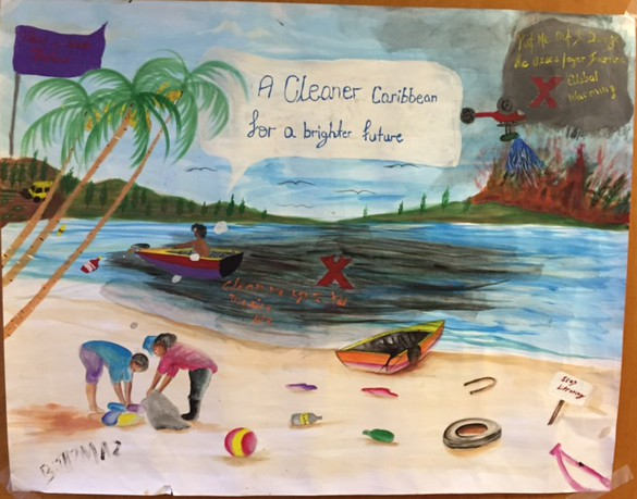 14Sep15 - Senior FCCA Poster Winner - Brandon Thomas, Grenada Christian Academy