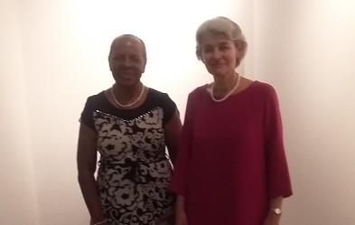 Minister Hood and Secretary General UNESCO, Irina Bokova