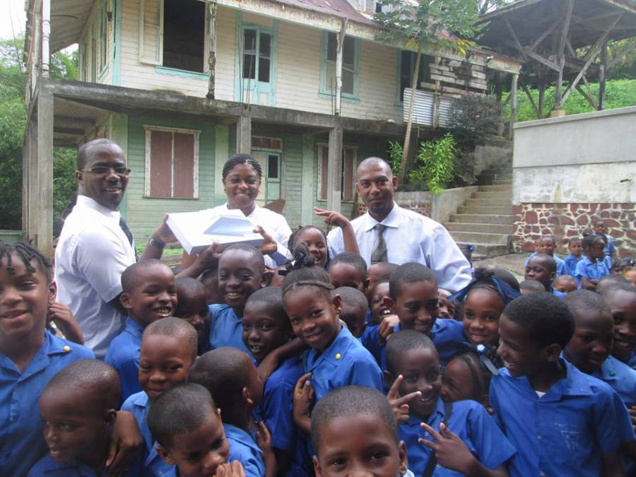 Students of St Matthews RC School Presented with their tablets
