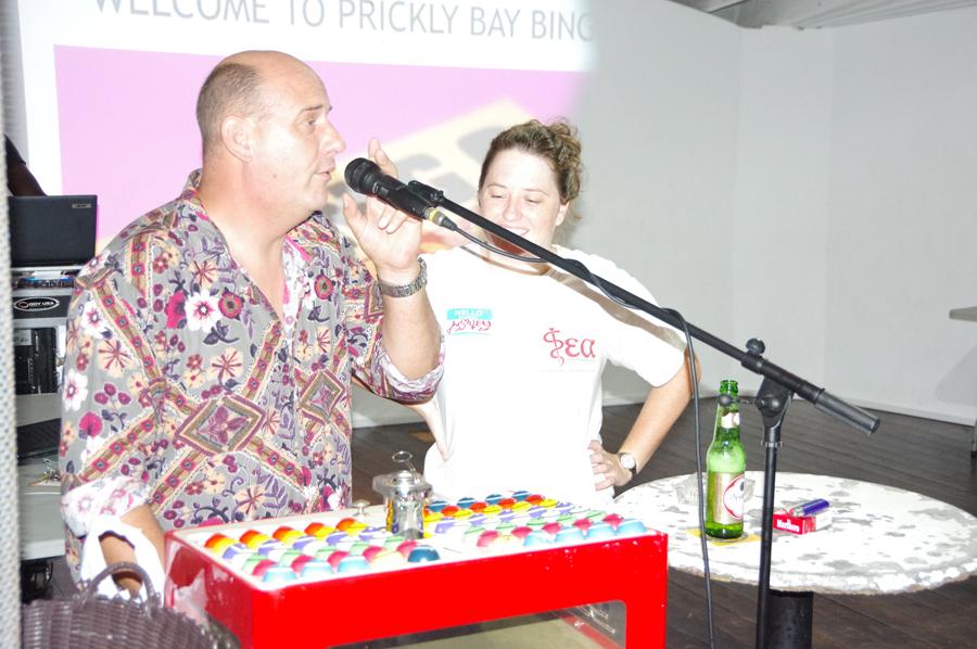 Prickly Bay Marina Managing Director, Darren Turner Hosts Bingo