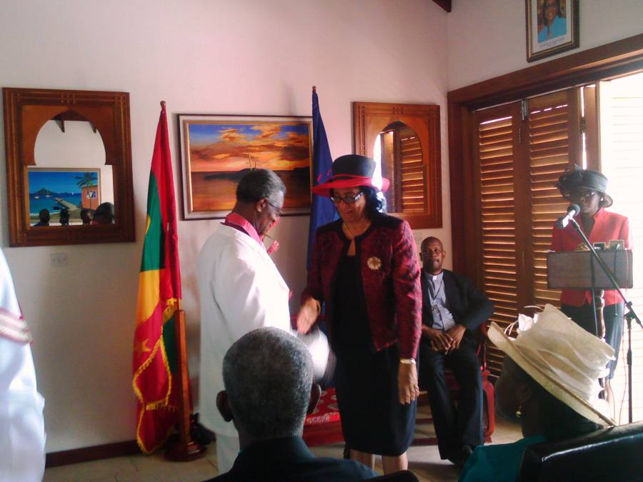 Dr Joseph after receiving his Insignia