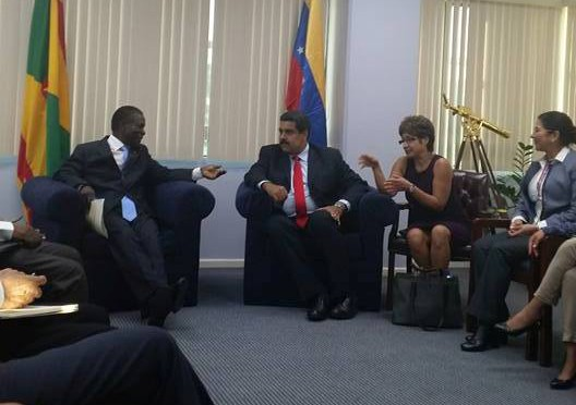 PM Mitchell and President Maduro engaging in discussion