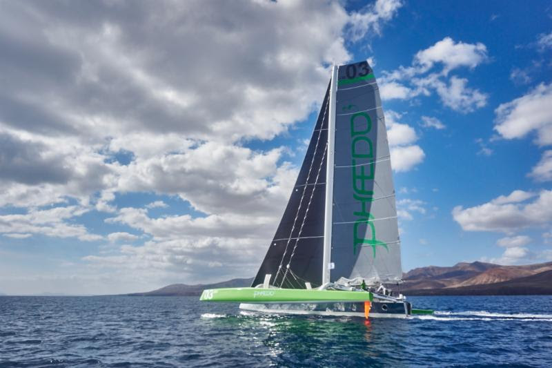Lloyd Thornburg's MOD70, Phaedo 3, co-skippered by Brian Thompson Credit: RORC/James Mitchell
