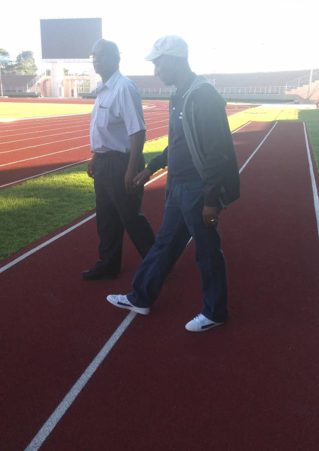 CARIFTA officials touring Stadium