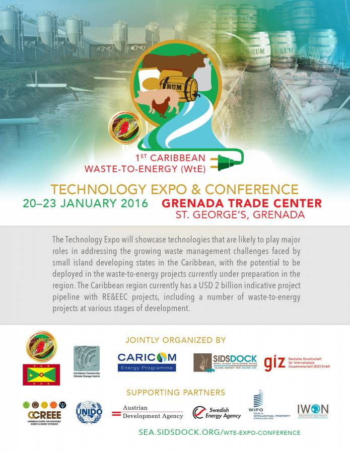 FLYER - 1st WtE Tech Expo & Conference, 20-23 Jan, Grenada
