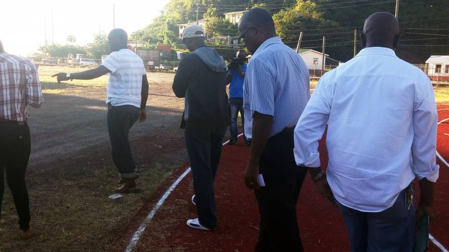 LOC and CARIFTA officials touring new Athletic Stadium