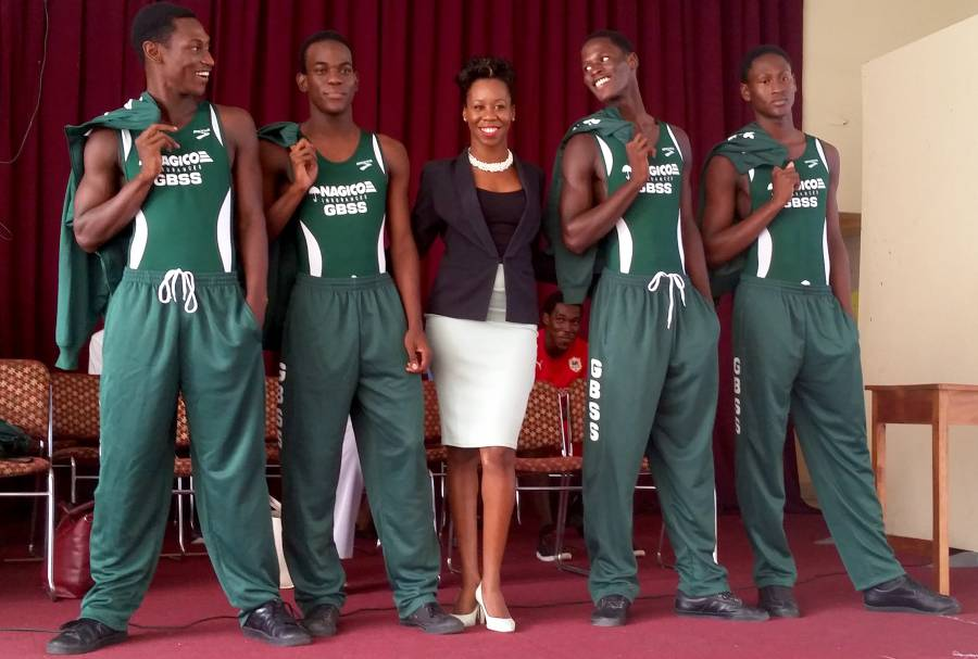 Athletes in their new speed-suits