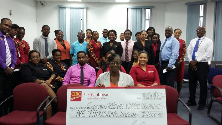 CIBC FirstCaribbean Presents Cheque to GNOW