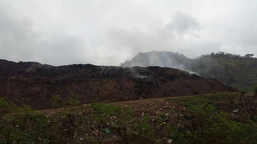 Landfill burning and smoking
