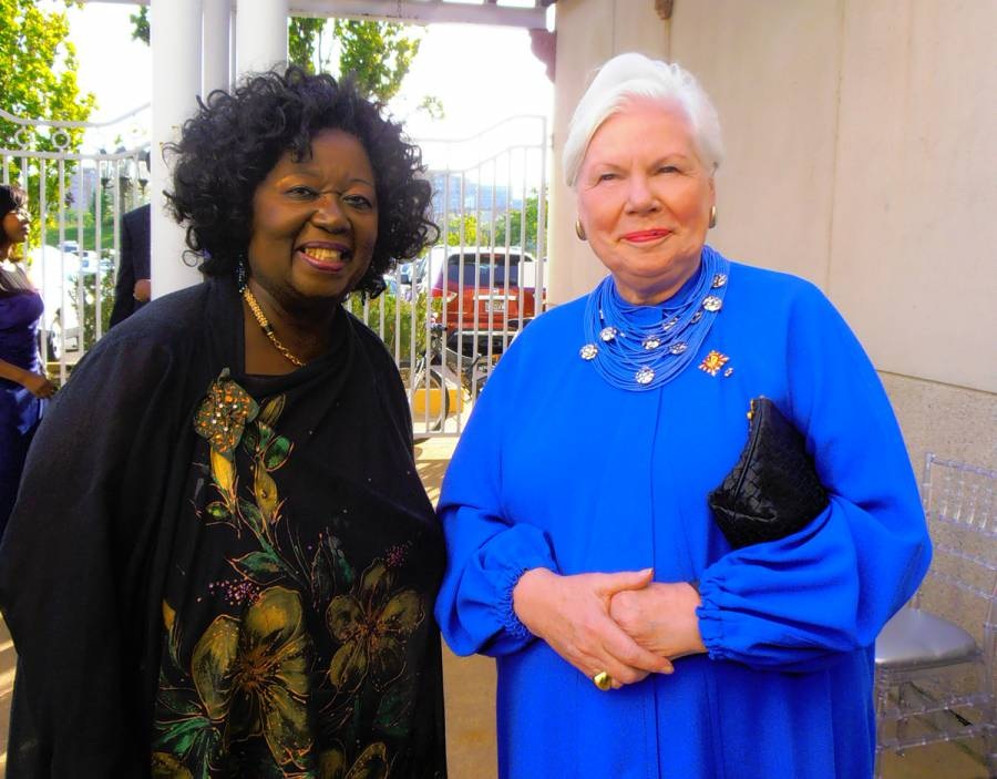 Dr Jean Augustine (left) with the Lieutenant Governor of the Province of Ontario, Elizabeth Dowdeswell, at the book launch